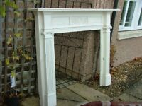 Large carved antique fire surround