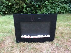 Electric fire with remote control in good working order
