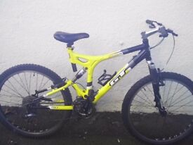GT i-Drive 4.0 mountain bike - aluminium frame- dual suspension - 27 speed