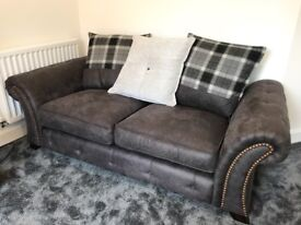 DFS Granby 2 Seater Sofa Pillow Cushion Back Grey Couch Settee RRP£1129