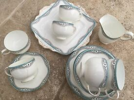Vintage Paragon Tea Set with Milk Jug and Sandwich Plate