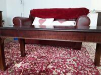 Mahogany effect coffee table