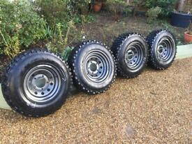 Land Rover Wheels and Tyres, px or Swap for discovery 2 mud wheels