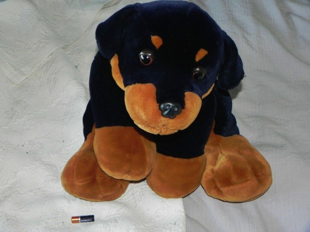 Large Cuddly Rottweiler By Keel Toys Like New