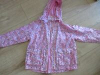 GIRLS LIGHT WEIGHT COAT IN A BAG age 7-8 IMMACULATE & breathable (fabulous value)