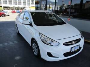 2015 Hyundai White Automatic Accent Sedan Hobart CBD Hobart City Preview