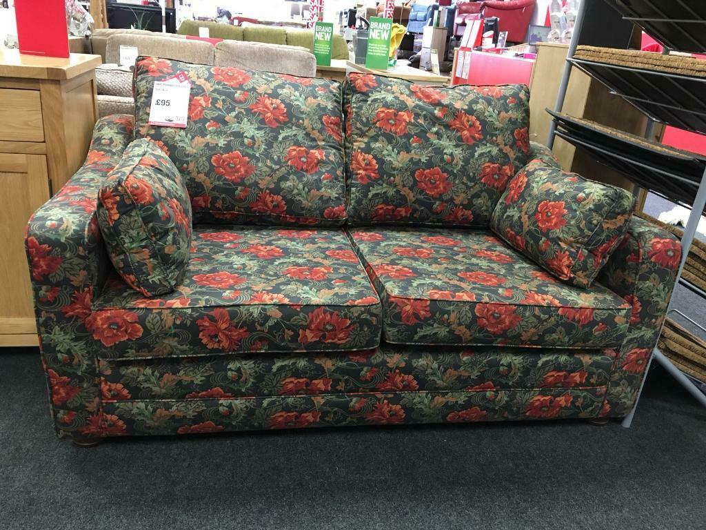 Pleasant Bhf Northampton Flowery Patterned Cottage Style Sofa Bed In Northampton Northamptonshire Gumtree Gmtry Best Dining Table And Chair Ideas Images Gmtryco