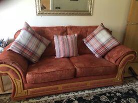 Large 2 seater sofa & cushions
