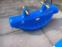Little Tikes Whale Teeter Totter / Double Rocker