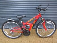 CHILDS APOLLO DUAL SUSPENSION BIKE IN EXCELLENT CONDITION. IDEAL PRESENT..(SUIT APPROX. AGE. 8 / 9+)