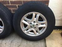 """Freelander 2, 16"""" Alloy Wheels and Tyres"""