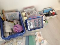 Verylarge job lot of craft items, everything you could wish for is in the boxes shown more added now