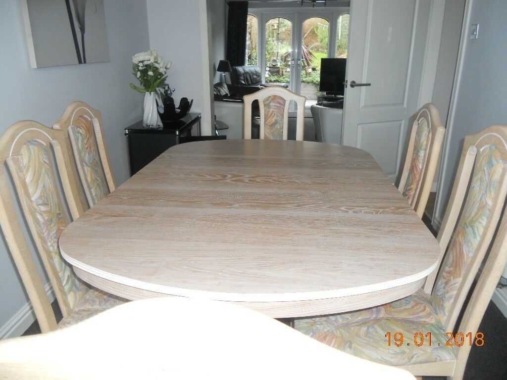 Cousins limed oak extendable dining table chairs in