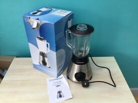 Cookworks stainless steel glass blender, brand new, 500watts
