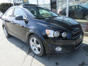 2012 Chevrolet Sonic LT AUTO WITH MOONROOF & ALLOYS