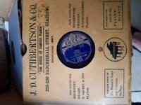Vintage vinyl 78's LP's. Also singles