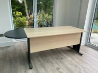 Large Office desk, wooden oak effect