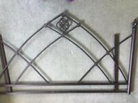 Wrought iron double bedhead