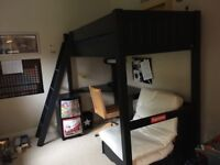 Navy blue GLTC Cabin bed with desk and futon