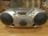 Panasonic Portable Radio Tape Cassette Recorder CD Player Rx-d19