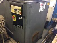 Used Atlas Copco GA22 Air Screw Compressor 127 CFM