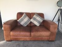 2 x 2 Seater Modern Leather Sofa's. Sutton Coldfield