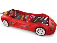 Toddler racing car bed