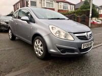 2008 VAUXHALL CORSA CLUB 1.2 - 3DOORS,COMES WITH 12 MONTHS MOT, AIR-CON,ELECTRIC WINDOWS & MIRRORS