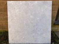 Argyll White Natural Floor Tiles (light grey / white)