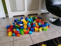 Large pile of duplo blocks