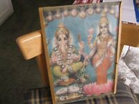 GANESH AND LAKSHMI HINDU PHOTO