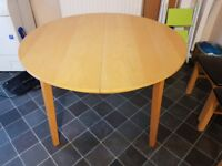 Ikea Round Extending Dining Table FREE DELIVERY 548