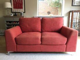3 + 2 seater sofas plus matching footstool