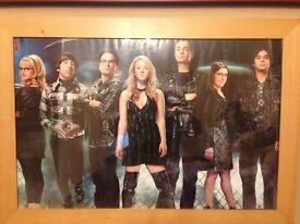 Framed Big Bang poster
