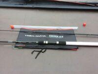 FISHING Rods TEAM Daiwa Rods NEW Unused plus preston 2+2 monster hardcase
