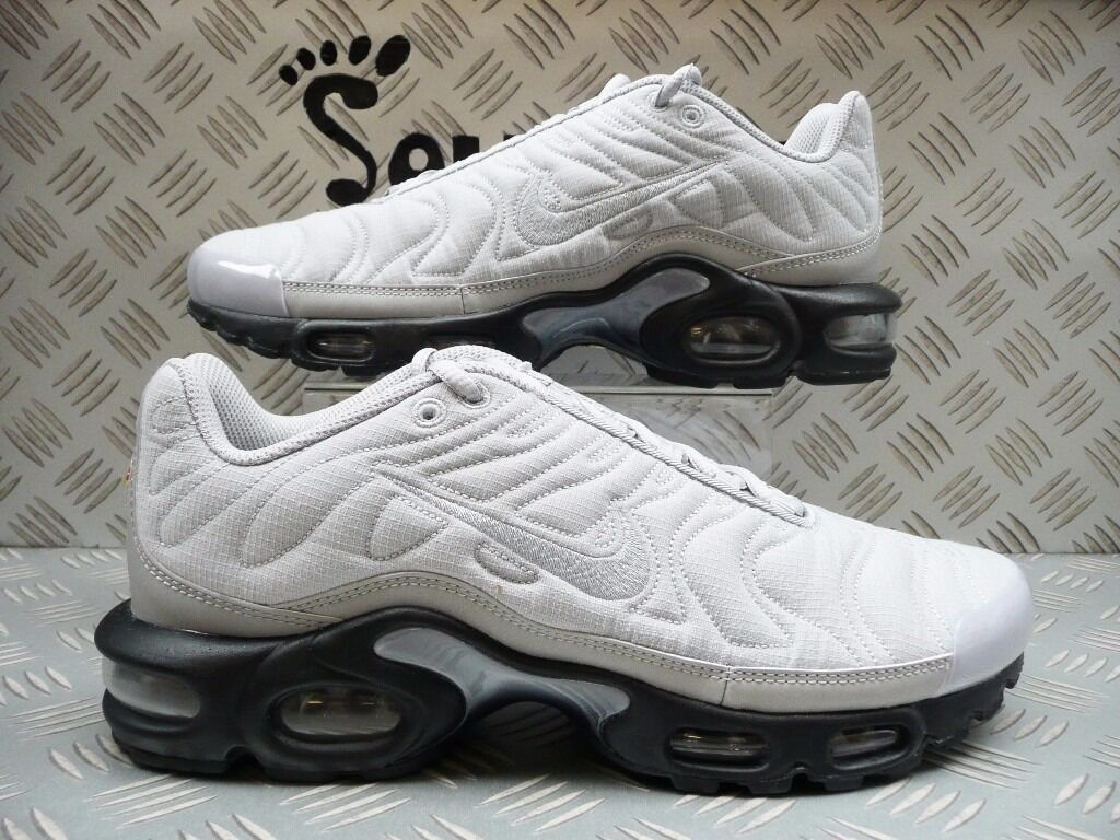 xvzvq Nike Mens Air Max Plus Quilted Tuned 1 TN Silver Size 7.5 UK/EUR