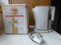 Vintage Morphy Richards cordless kettle. Beige, Bramble design. Model 43243. In original box.Working