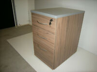 Brand New Wooden 3 Drawer Desk High Pedestal