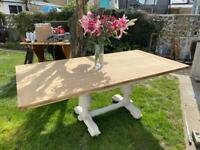 Antique Oak 6 foot Refectory Farmhouse Kitchen Dining Table