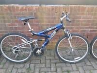 2x Mountain ridge ultrashock bike