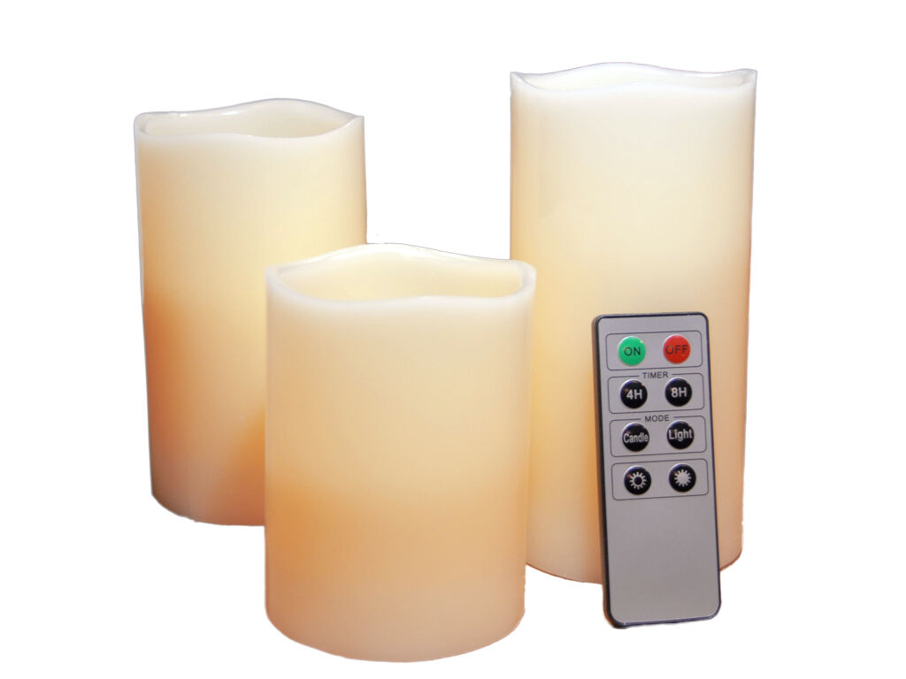 led scented wax candles with remote control 4 39 39 5 39 39 6 39 39 flameless warm white 5055875522138 ebay. Black Bedroom Furniture Sets. Home Design Ideas