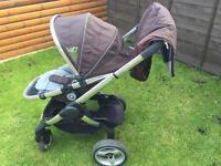 iCandy peach stroller,buggy with winter footmuff