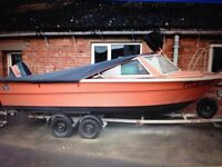 Morbas 17 for sale 50hp elec start fish finder /gps all lights anchor chain boy
