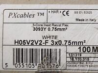 NEW HEAT RESISTANT FLEXIBLE CABLE 3 CORE 3093Y 0.75MM