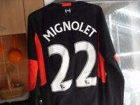SIMONE MIGNOLET TOP AND OTHER LIVERPOOL STUFF