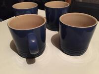 Le creuset mugs x 4