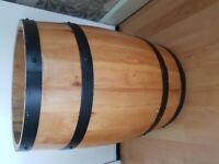 Wine Barrel, plant pot
