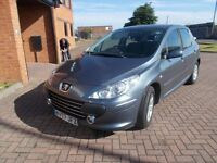 PEUGEOT 307 S 1.4 5 DOOR, in SMOKE GREY, SERVICE HISTORY