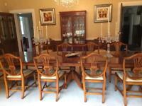 Wade Regency Yew dining table and chairs