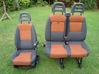 FIAT DUCATO / PEUGEOT BOXER / CITROEN RELAY FRONT SEATS WITH ARM REST 2007-2014